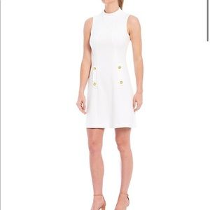 Harper Rose Mock Neck Sleeveless Button Dress 🤍